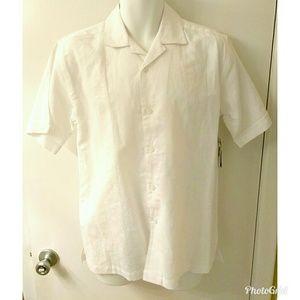 Mens Cubavera Guayabera shirt white